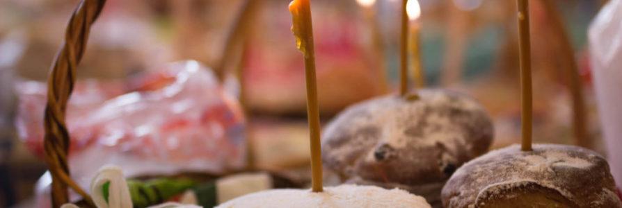 Освящение куличей в Храме в честь иконы Божией Матери «Скоропослушница»