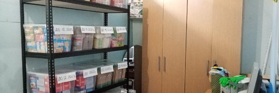 В социальном центре «Очаг» были отсортированы продуктовые наборы для нуждающихся